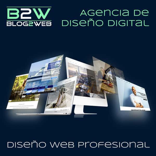 Agencia de profesionales del diseño de páginas web - BLOG2WEB - Imagen destacada