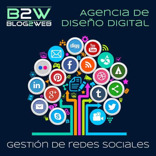 BLOG2WEB - Gestión de redes sociales. Imagen destacada.