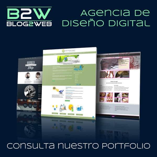 BLOG2WEB - Agencia de diseño de páginas web - Portfolio. Imagen destacada.