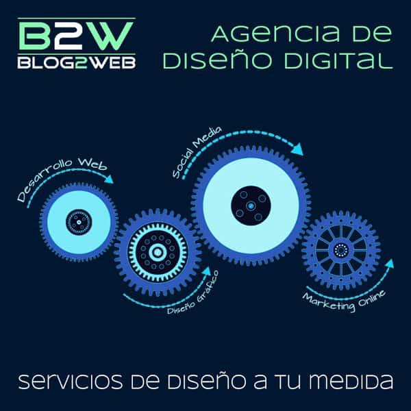 Servicios de diseño gráfico y desarrollo web- BLOG2WEB- Imagen destacada.