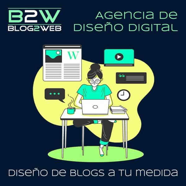 BLOG2WEB - Diseño y creación de Blogs. Imagen destacada.