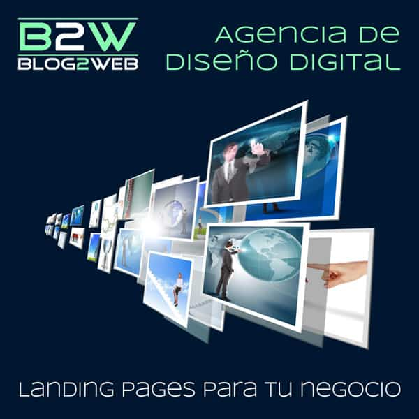 BLOG2WEB - Diseño de landing Pages. Imagen destacada.