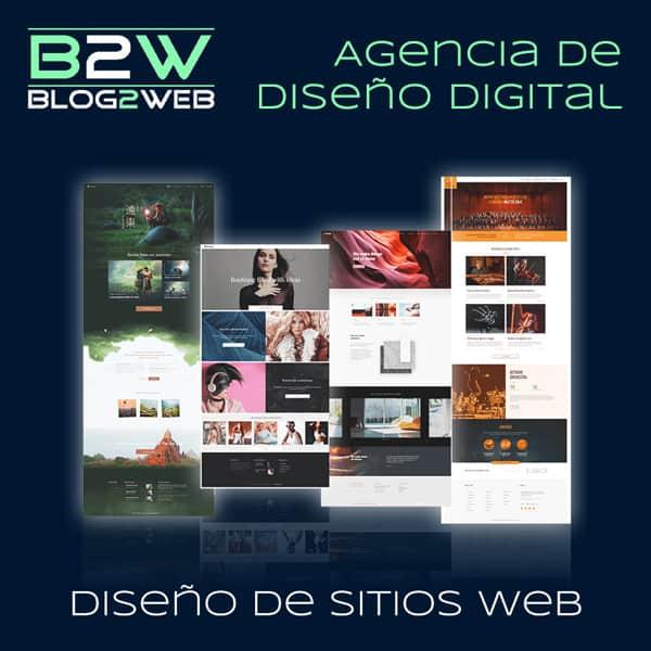 BLOG2WEB - Agencia de profesionales del diseño de sitios web. Imagen destacada.