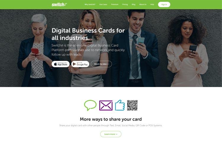 BLOG2WEB. Visita este artículo sobre diseño de vcards. Imagen Switchit.