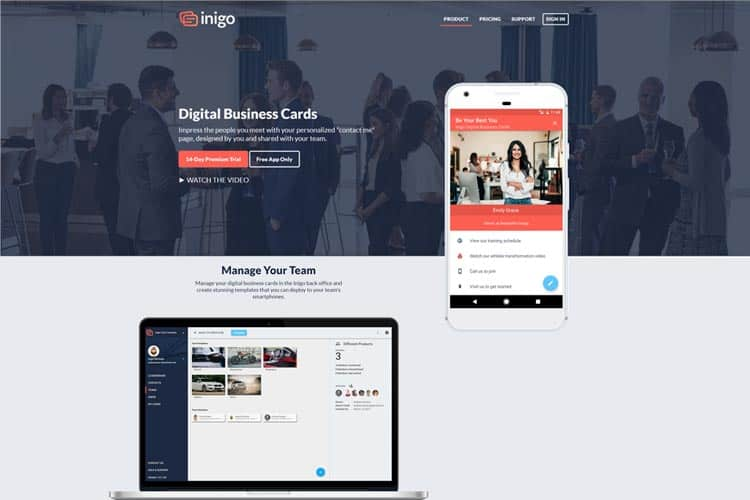 BLOG2WEB. Visita este artículo sobre diseño de vcards. Imagen Inigo.