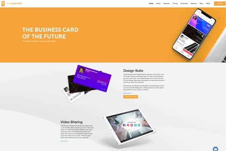 BLOG2WEB. Visita este artículo sobre diseño de vcards. Imagen L-Card.