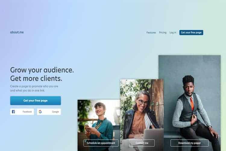 BLOG2WEB. Visita este artículo sobre diseño de vcards. Imagen about.me.