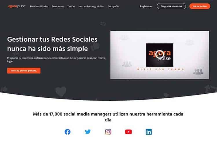 BLOG2WEB. Artículo sobre gestión de Facebook, Twitter, Instagram,... Imagen Agora Pulse.